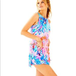 "Lilly Pulitzer ""Donna Romper"" Off Tropic Size 8"